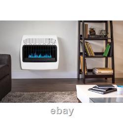 Vent Free Natural Gas Blue Flame Wall Heater 30,000 BTU Emergency Heating, White