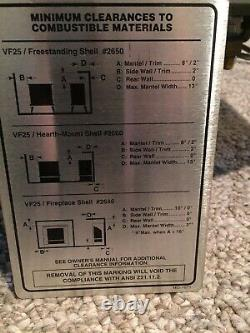 Vermont Castings Natural Gas Vent Free Fireplace (Not LP)
