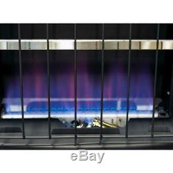 Wall Heater 20000 BTU Vent Free Blue Flame LP Oxygen Depletion Sensor Variable
