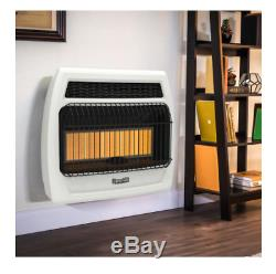 Wall Heater 30000 BTU Vent Free Infrared Natural Gas Thermostatic Vent Free Tech
