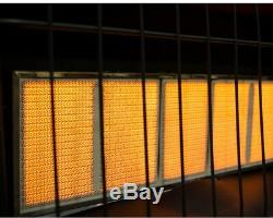 Wall Heater Natural Gas Blue Flame Infrared Vent Free Thermostatic 12000 BTU