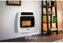 Wall Heater Natural Gas Infrared Vent Free Thermostatic 18,000 BTU Home Heating