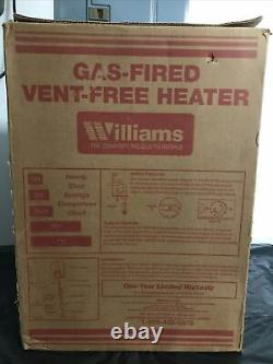 Williams 3056511.9 Propane Vent Free Heater 10000 BTU White, Blue Flame, USAmade